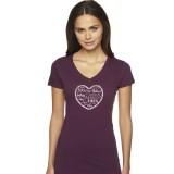 BIKELOVE Women's Plum T-Shirt
