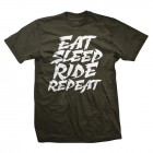 Eat Sleep Ride Repeat - military green