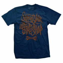 LOCAL SUPPORT Men's Blue T-Shirt