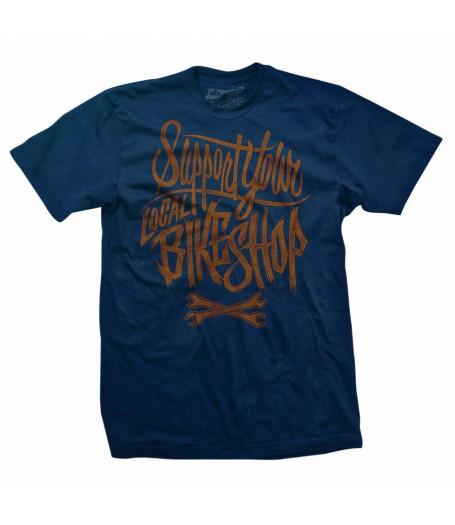 LOCAL SUPPORT Men's Blue T-Shirt