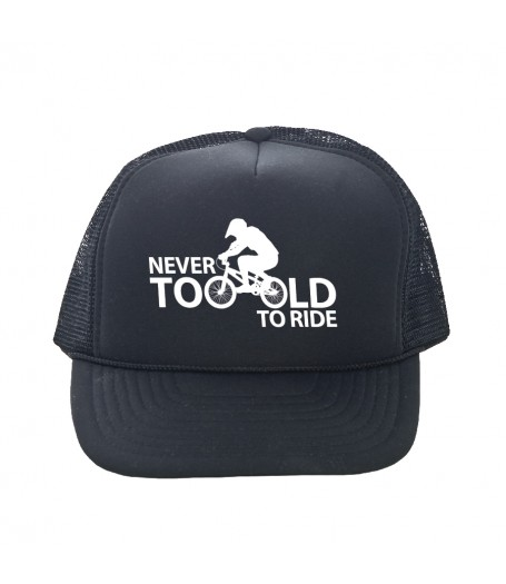 NEVER TOO OLD trucker hat