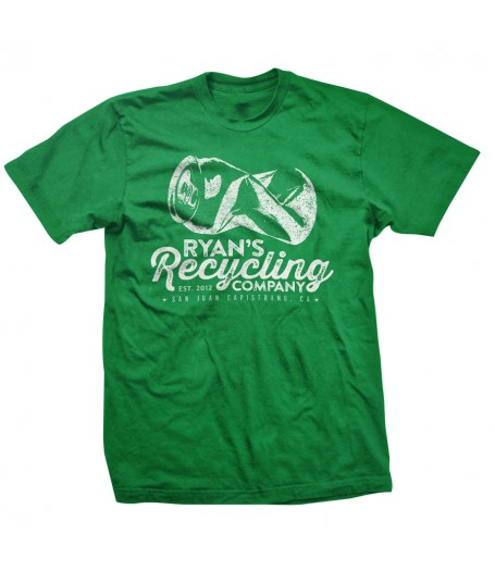 Ryans Recycling Mens shirt - green