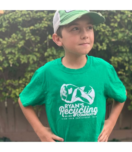 Ryans Recycling Youth shirt - green