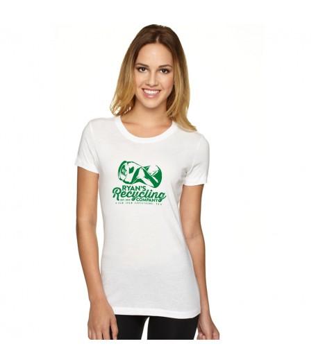 Ryans Recycling Ladies shirt - white