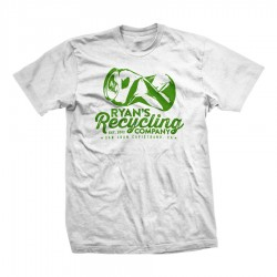 Ryans Recycling Boys/Mens shirt - white