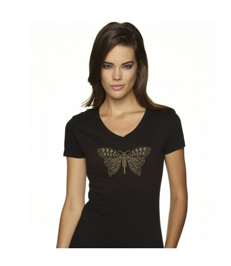 Butterfly Black T-Shirt