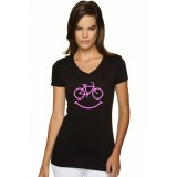 Smiley Women's BLACK T-Shirt