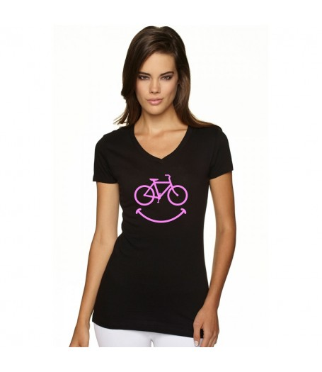 Smiley Women's BLACK T-Shirt