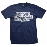 """Support"" Men's Blue T-Shirt"